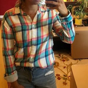 Colorful oversized flannel
